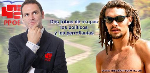 Perroflautas okupas politicos España