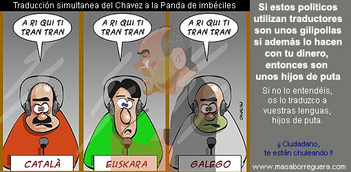 Traductores en el Senado Santacreu