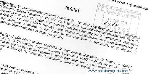Masby Denuncia al PP Fiscalia anticorrupcion Santacreu