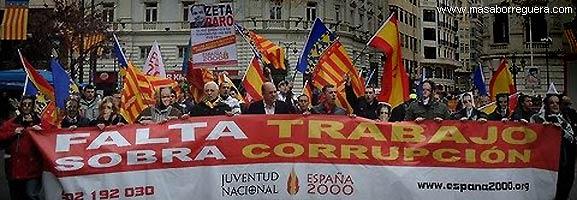 Masby y la manifestación España 2000 Valencia
