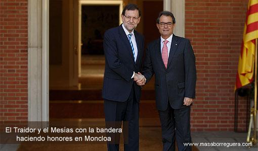 Mariano Rajoy Arturo Mas a propósito del artículo 155 de la Cosntitución